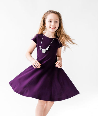 Purple Crepe Dress Florence Eiseman