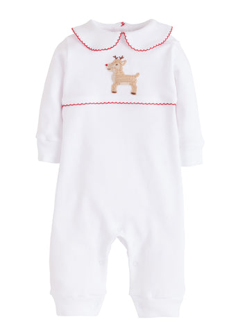 Reindeer Crochet Playsuit Little English