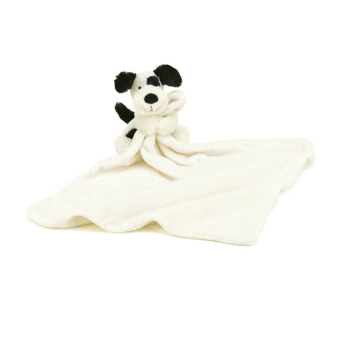 Bashful Blk & Cream Puppy Soother Jellycat