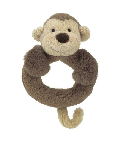 Bashful Monkey Ring Rattle Jellycat
