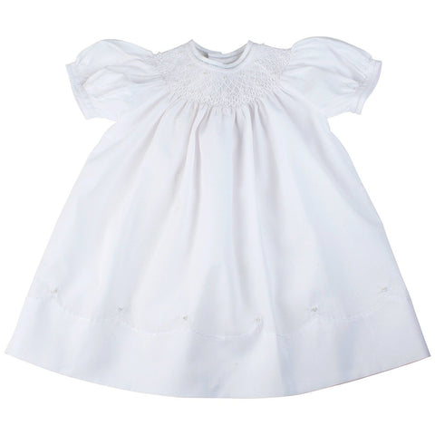 Smocked Bishop with Pearls 86549 Feltman Brothers