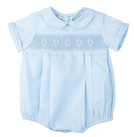 Smocked Boy's Newborn Bubble Feltman Brothers 957