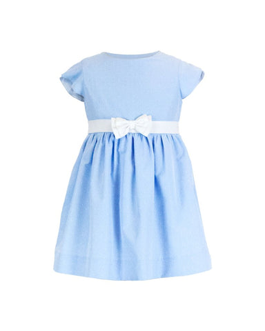 Blue Dot Dress w/Petal Sleeves Florence Eiseman