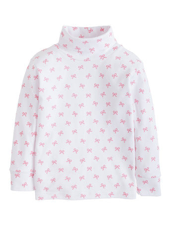 Bow Printed Turtleneck Little English