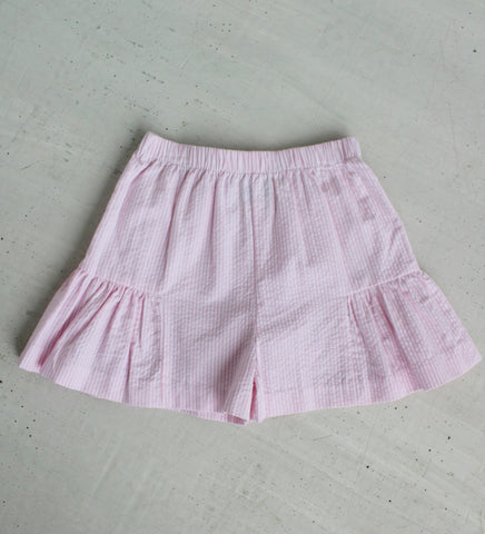 Breezy Stripe Seersucker Shorts Little English
