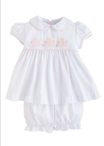 Bunny Poppy Peter Pan Bloomer Set Little English