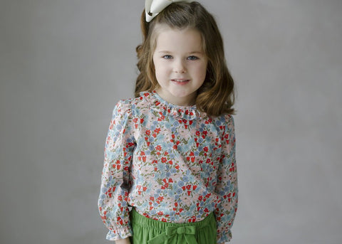 Caroline Poppy Floral Blouse Little English