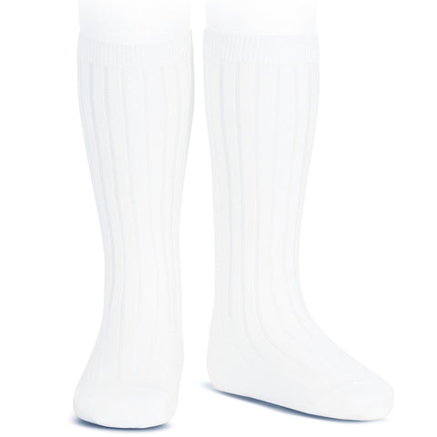 Ribbed Cotton Knee Socks Condor