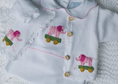 Elephant Girl Crochet Cardigan Little English