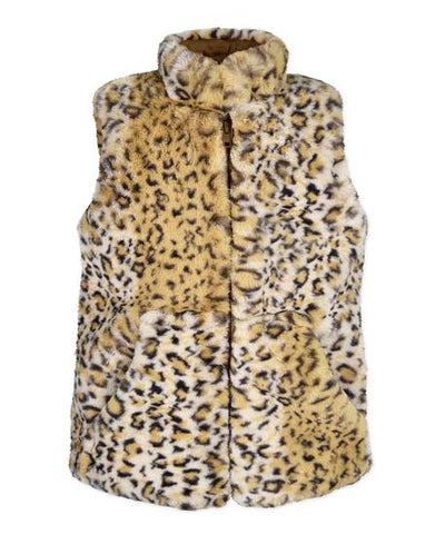 Leopard Faux Fur Vest Widgeon Coats