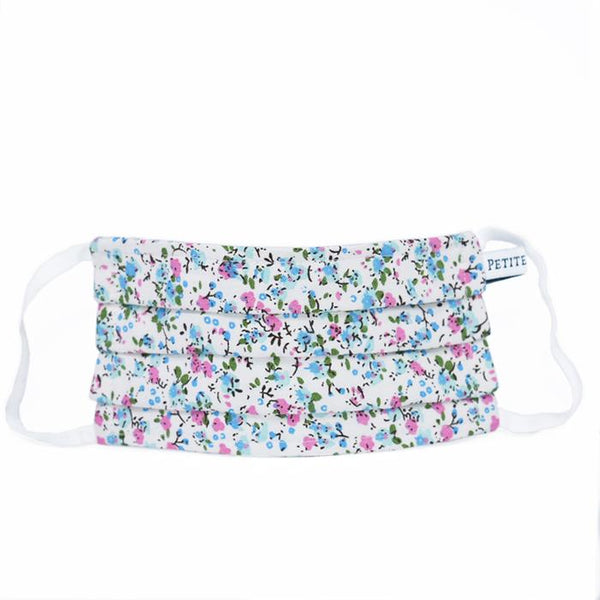 Whisper Floral Pleated Child Face Mask Petite Plume