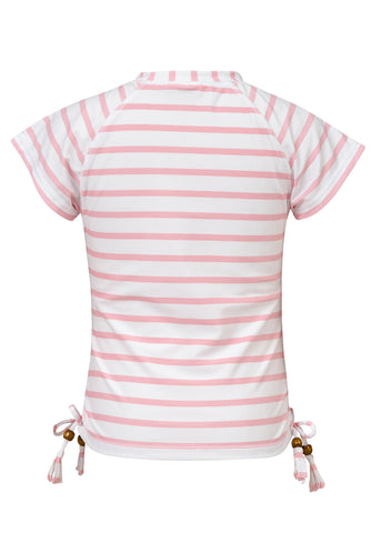 Pink Stripe S/S Rash Top SnapperRock