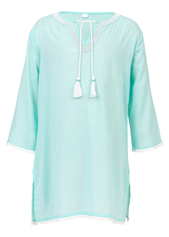 Mint White Beads Classic Kaftan SnapperRock