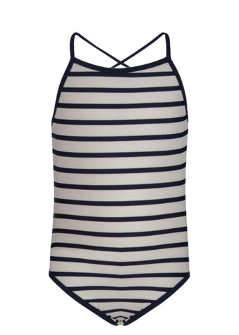Navy/White Stripe Swimsuit SnapperRock
