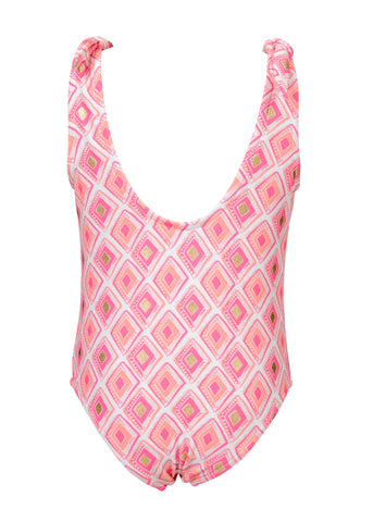 Diamond Shoulder Tie Swimsuit SnapperRock