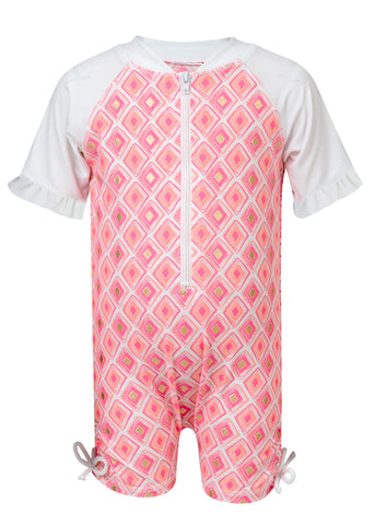 Diamond S/S Sunsuit SnapperRock