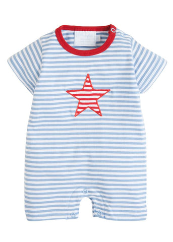 Star Applique Romper Little English