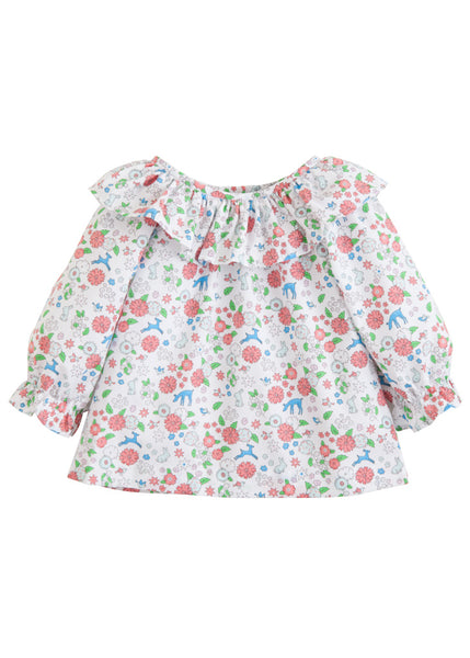 Woodsy Floral Bespoke Blouse Little English