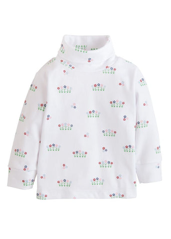 Garden Party Printed Turtleneck Little English