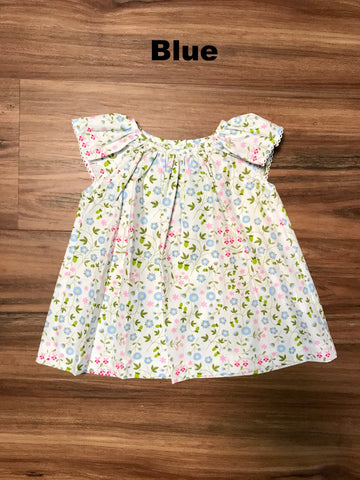 Floral A/S Blouse Toddler Zuccini