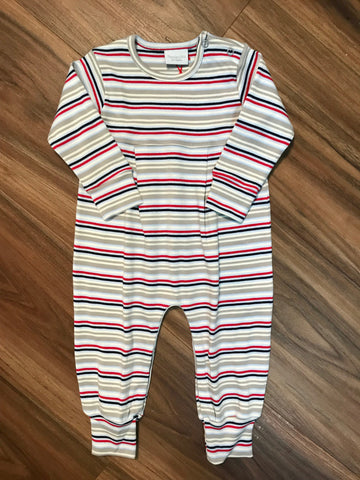 Stripe Long Romper Squiggles