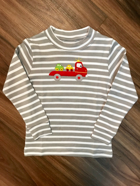 Car Hauler L/S Months Tee Squiggles
