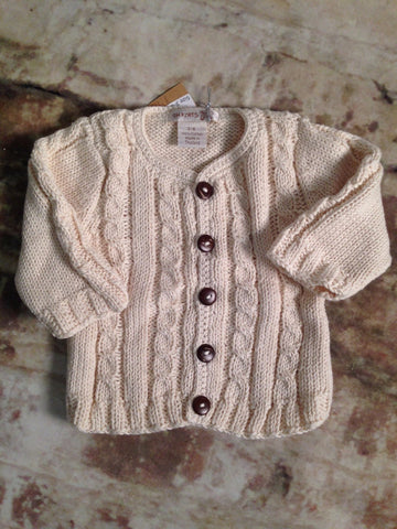 Cableknit Cardigan Sweater 2 Hand Knits