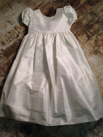 Silk Dress w Organza Sash Malley & Company