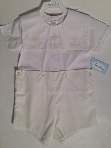 Button On Short w/Cross Auraluz