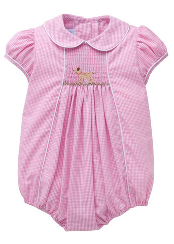 Lab Smocked Girl Bubble Little English