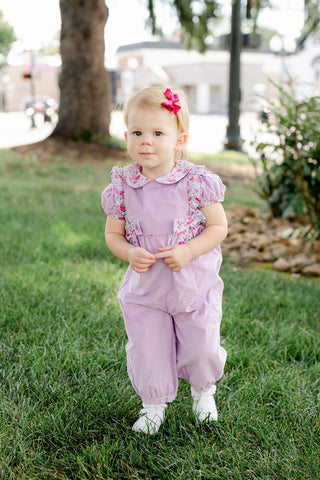 Caroline Bow Cord Romper Little English