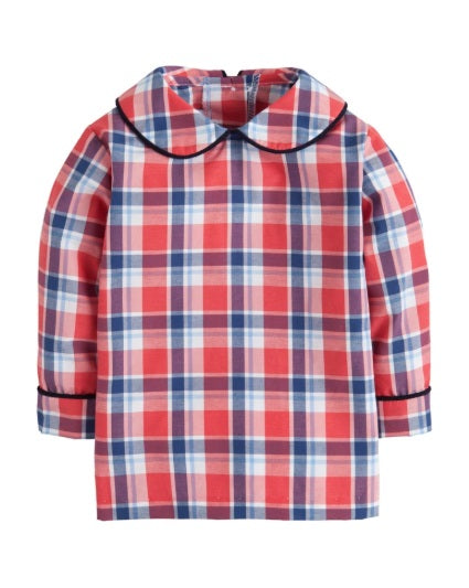 Frierson Plaid Peter Pan Shirt Little English