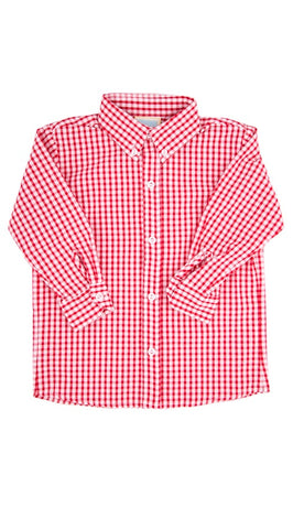 Button Down Red Gingham Shirt Little English