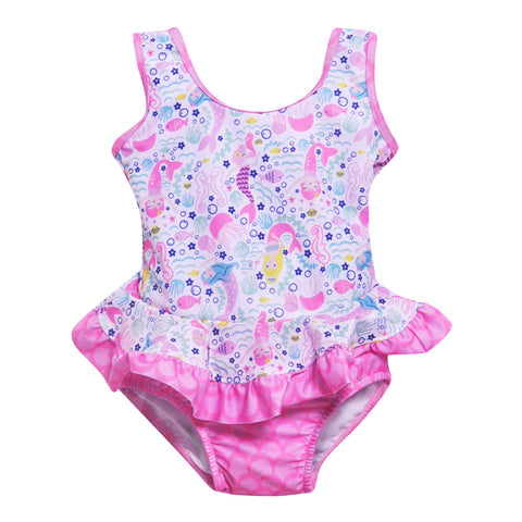 Malibu Ruffle Swimsuit Flap Happy