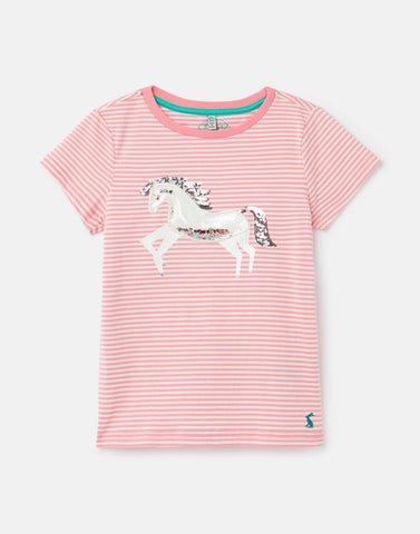 Paige Pink Unicorn Tee Joules