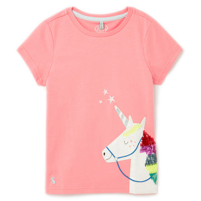 Pink Unicorn Astra Tee Joules