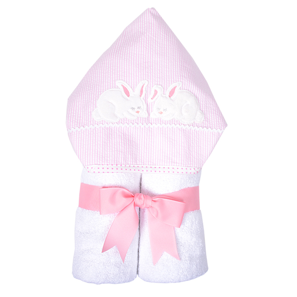 Bunny Everykid Towels Pink and Blue 3 Marthas