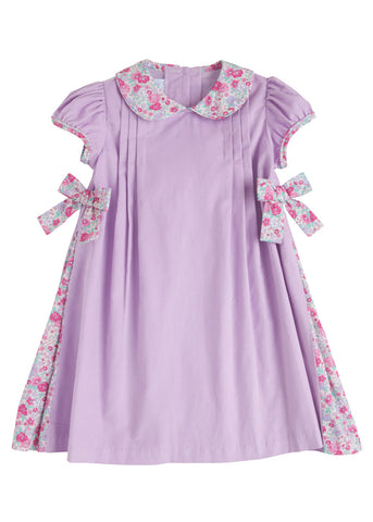 Pleated Bow Cord Dress Little English
