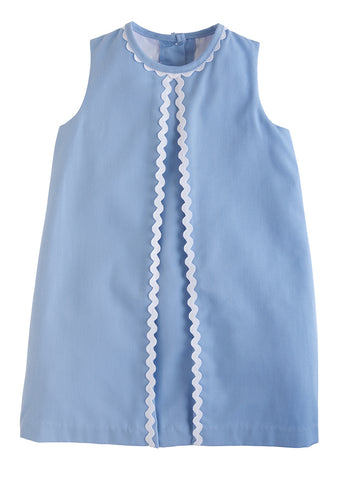 Light Blue Twill Reese Dress Little English