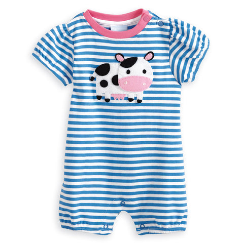 Cow Applique Romper Bella Bliss