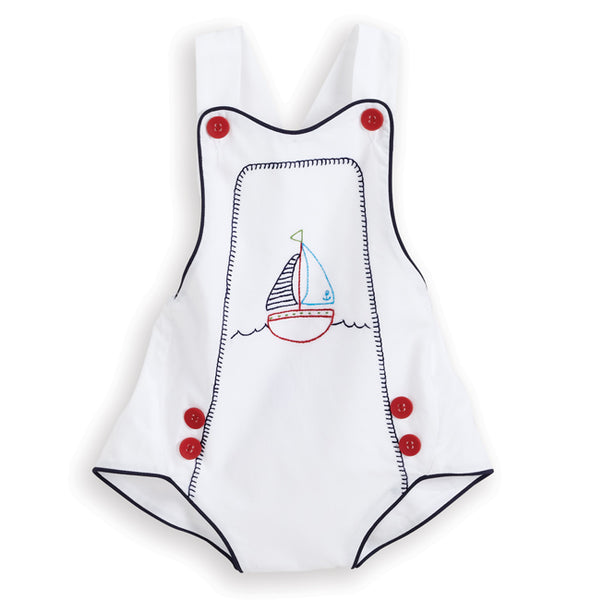 Embroidered Sailboat Bubble