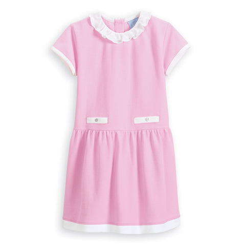 Pique Dress w/Ruffle Bella Bliss