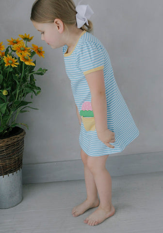 Ice Cream T-Shirt Dress Little English