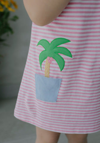 Palm Tree T-Shirt Dress Little English