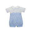Blue Microcheck Bubble Lullaby Set