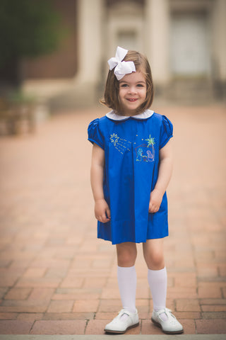 Navy Nativity Dress The Proper Peony