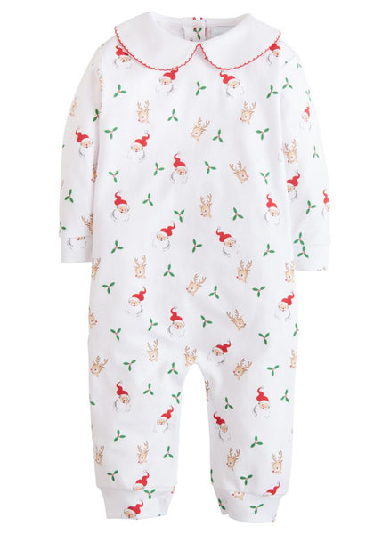 Santa & Reindeer Printed Playsuit Little English