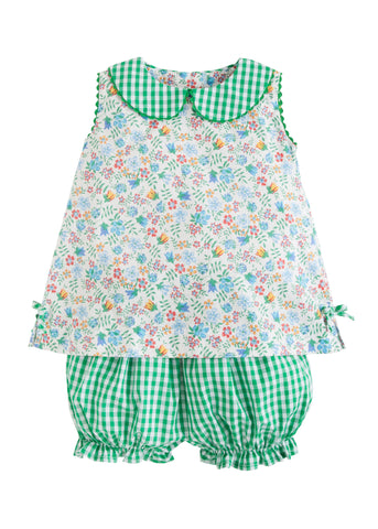 Augusta Floral Lily Bloomer Set Little English
