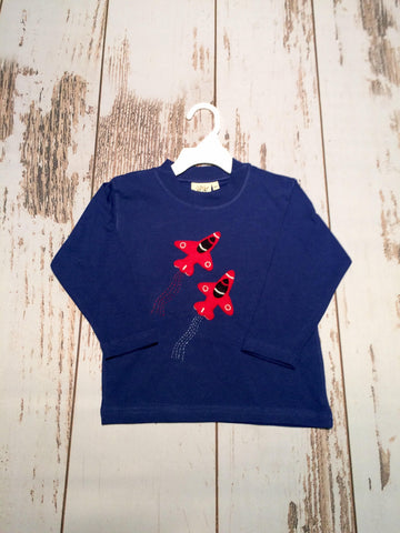 Fighter Jets L/S Tee Luigi Kids