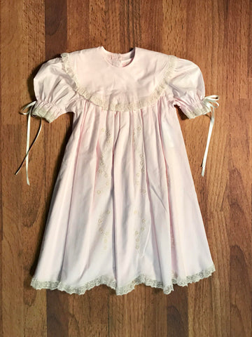 Dress w/Round Collar & Satin Flower Sizes 2T - 4T Style 2274sf7